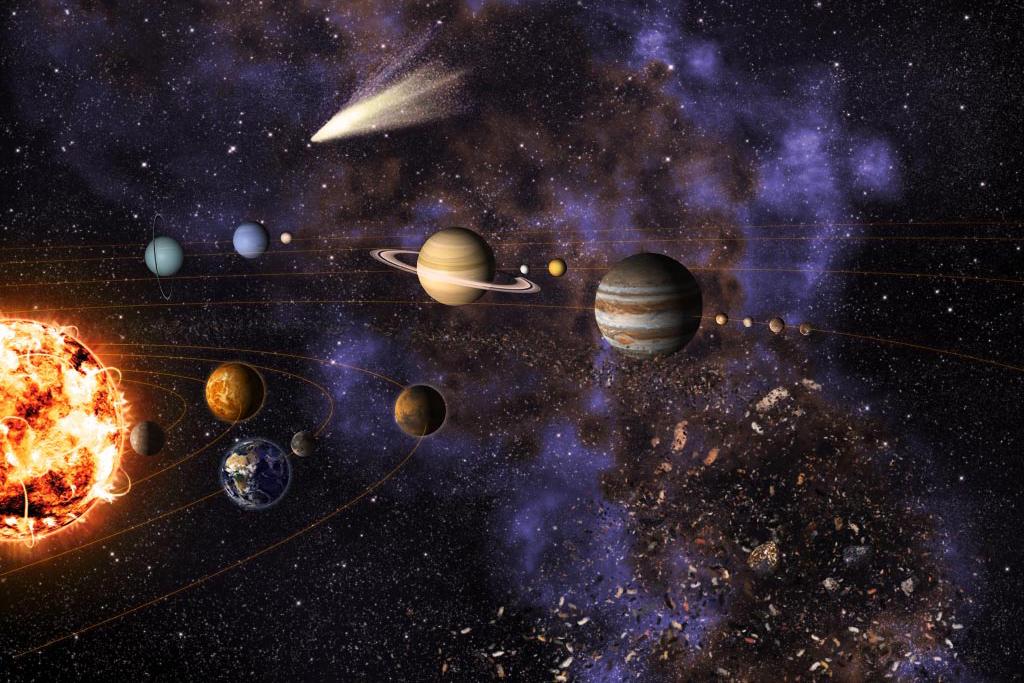 Evolution Of The Solar System  U2013 Collapsing Molecular Cloud