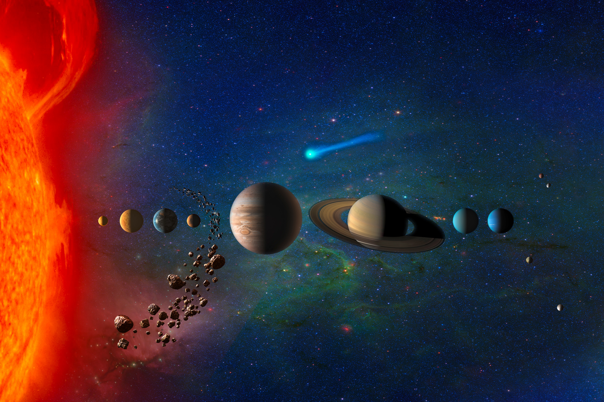 a study on the planets in the solar system