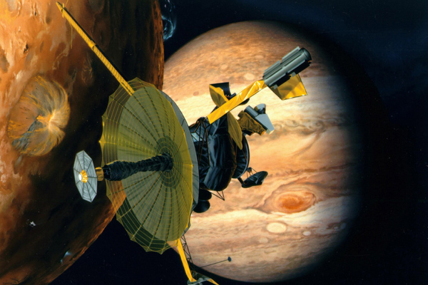 Artist's concept of Galileo at Io