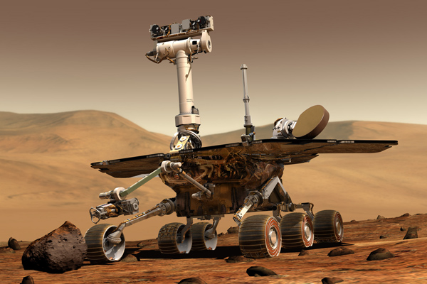 Artist's conception of rover on Mars