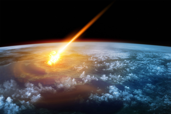 Artist's impression of an asteroid impact