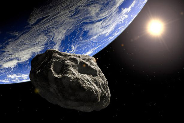 Artist's impression of Chicxulub asteroid