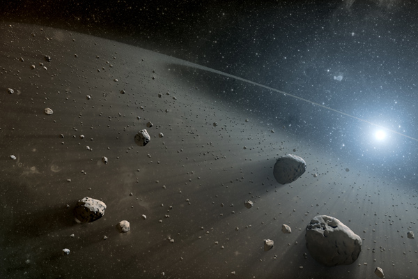 Artist's concept of Asteroid belt