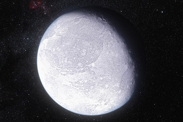 Artist's impression of the dwarf planet Eris