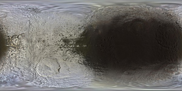 Color Map of Iapetus
