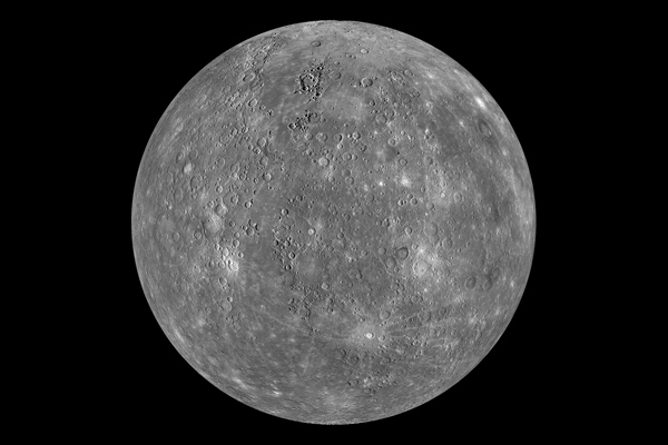 Composite image of Mercury by MESSENGER