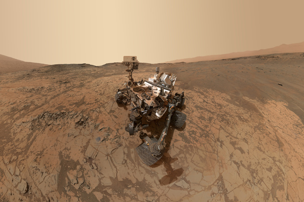 Curiosity Self-Portrait on Mars' Mount Sharp