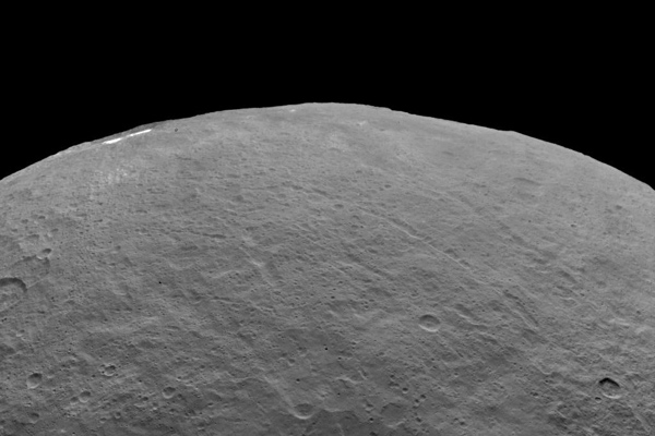 Dwarf planet Ceres from an altitude of 4,400 km (2,700 miles)