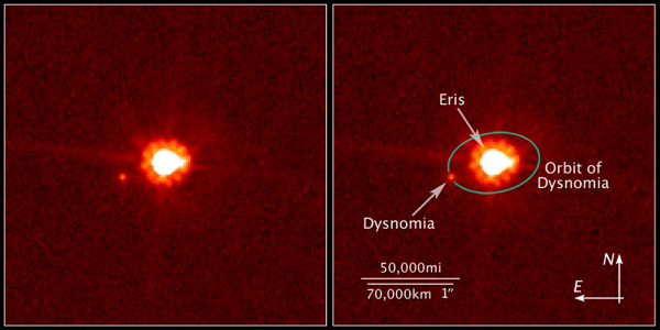 Eris and Dysnomia by Hubble Space Telescope