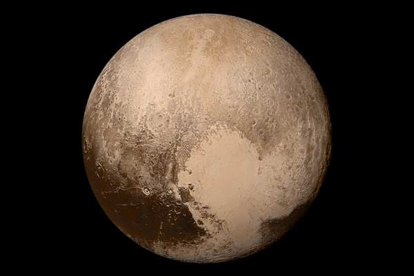 Full disc view of Pluto by New Horizons