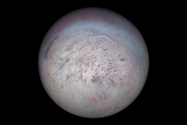 Global orthographic view of Triton
