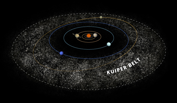 Kuiper Belt Illustration