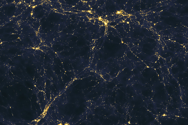 Large scale structure of light distribution in the Universe