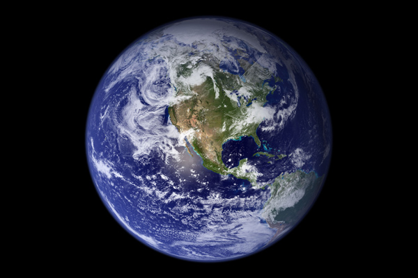 The Blue Marble of Western Hemisphere