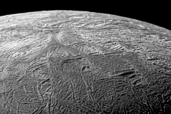 South polar region of Enceladus