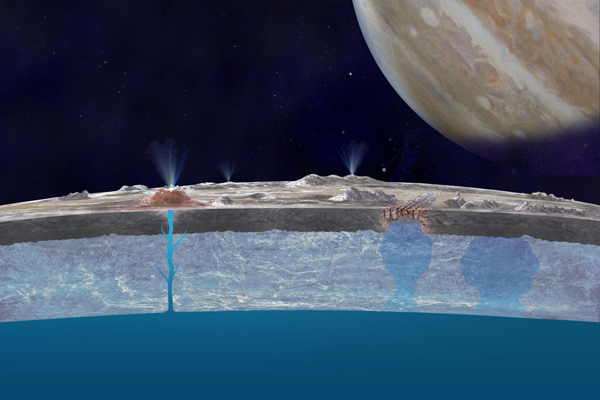 Taste of the Ocean on Europa's Surface