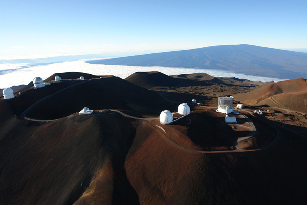 Telescopes atop Mauna Kea, with which the Kuiper belt was discovered