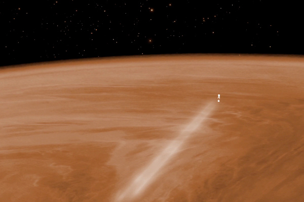 Visualisation of Venus Express during the aerobraking manoeuvre