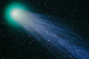 Comet Hyakutake time lapse sequence
