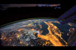 Timelapse footage of the Earth as seen from the ISS